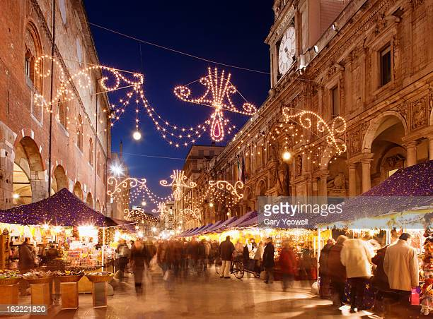 Busy Christmas Market in Milan