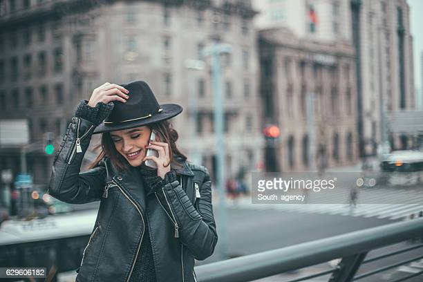 Busy city girl