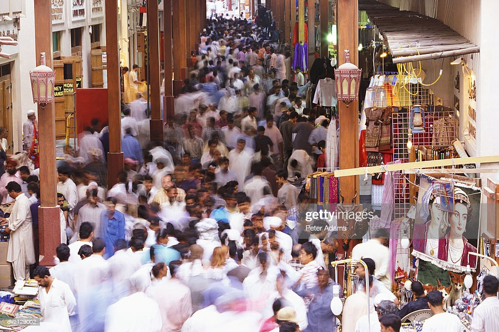 Busy, Crowded Souk : Stock Photo