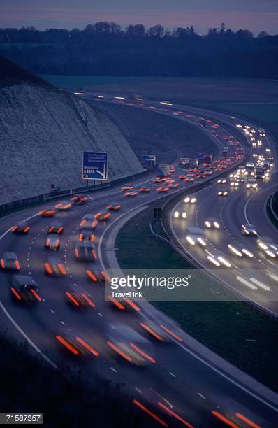 Busy Dual Carriageway at Dusk