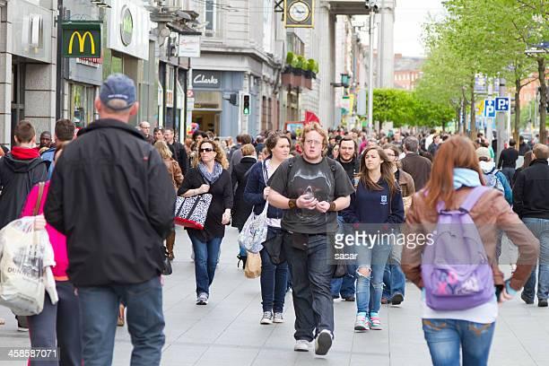 Busy Dublin street