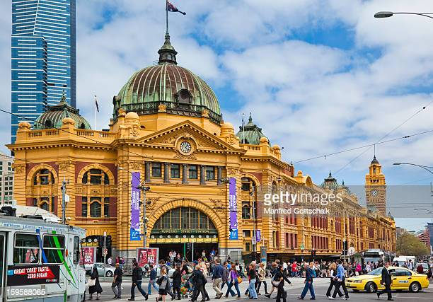 Busy Flinders Street Station