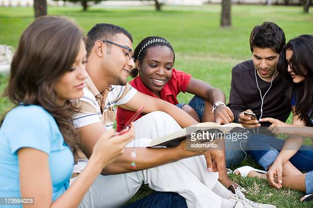 busy group of young people - free bible image stock pictures, royalty-free photos & images
