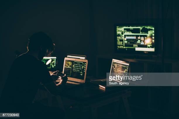Drukke hacker