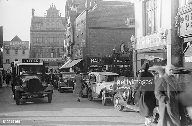 A busy Kingston upon Thames street scene circa 1939