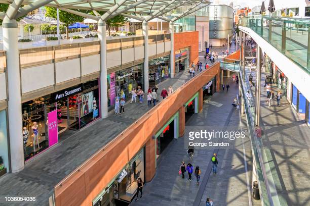 busy liverpool shopping streets - high up stock photos and pictures