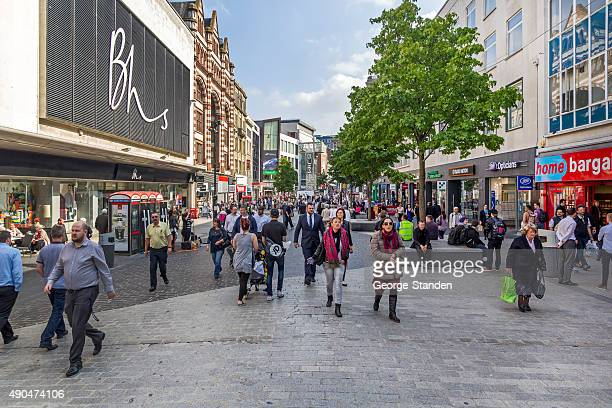 Busy Liverpool Shopping Streets