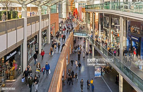 busy liverpool shopping streets - shopping mall stock pictures, royalty-free photos & images