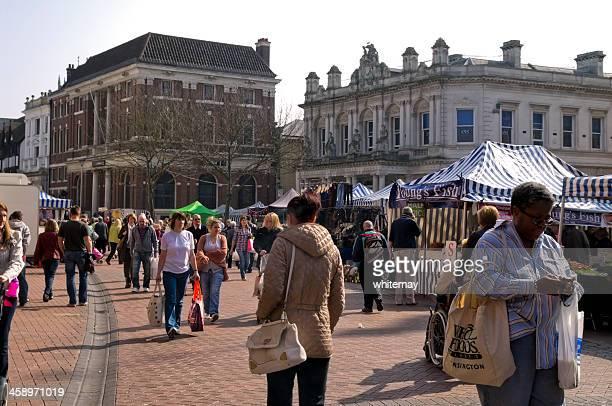 Busy market in Ipswich