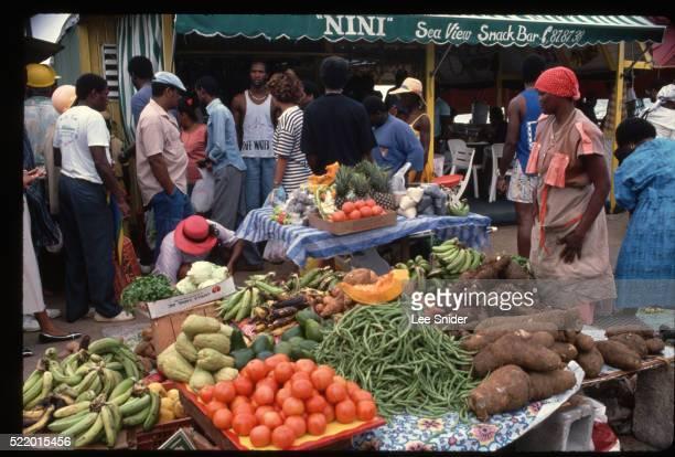 Busy Market on Saint Martin