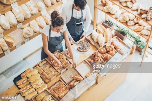 Busy morning in the bakery