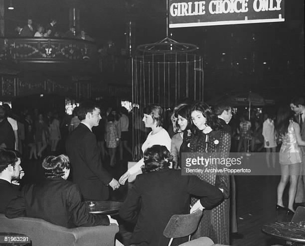 Busy night at the Hammersmith Palais night club, London, May 1970.
