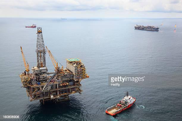 Busy Oil Field