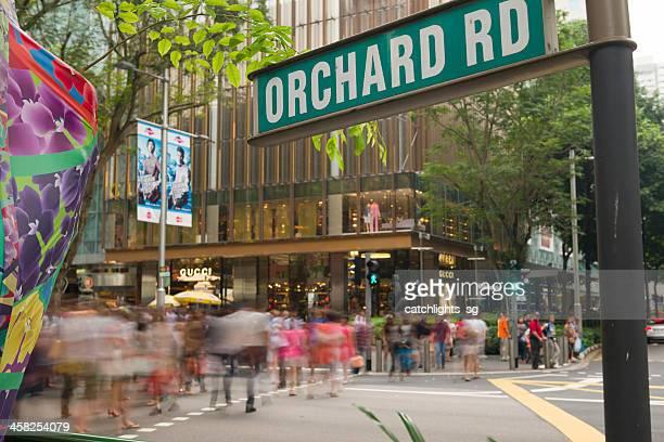 ocupado orchard road - orchard road fotografías e imágenes de stock