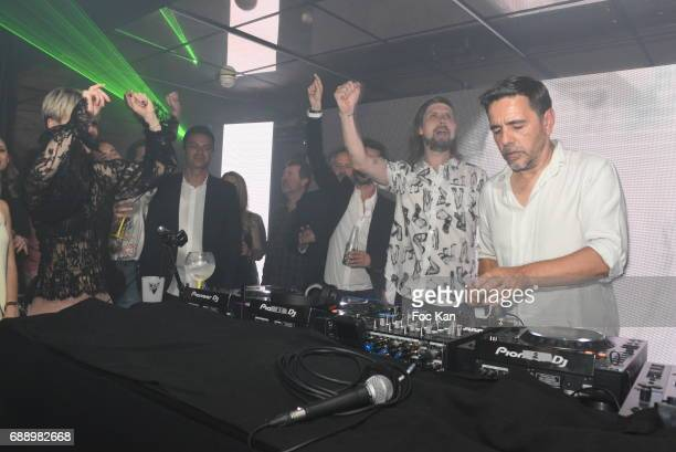 Busy P aka Pedro Winter and DJ Laurent Garnier perform during the Villa Schweppes Party during the 70th annual Cannes Film Festival at on May 26 2017...