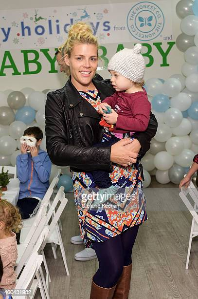 Busy Philipps and Birdie Silverstein attend Baby2Baby Holiday Party Presented By The Honest Company on December 13 2014 in Los Angeles California
