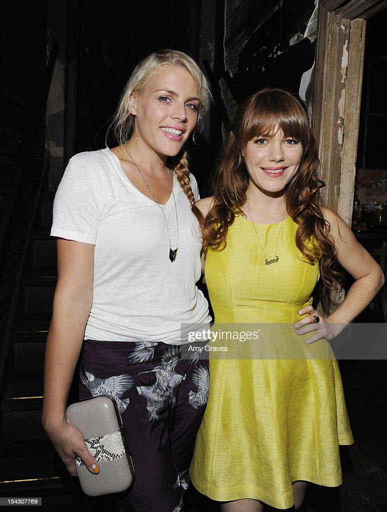 Busy Philipps and Jenny Lewis attend the Harlyn Launch Party at Harvard And Stone on October 17, 2012 in Hollywood, California.