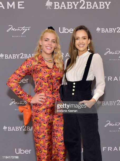 Busy Philipps and Jessica Alba attend The Baby2Baby Holiday Party Presented By FRAME And Uber at Montage Beverly Hills on December 15, 2019 in...
