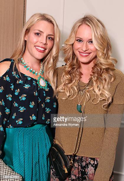 Busy Philipps and Leven Rambin at Rebecca Taylor Robertson Store Opening on December 7 2011 in Los Angeles California