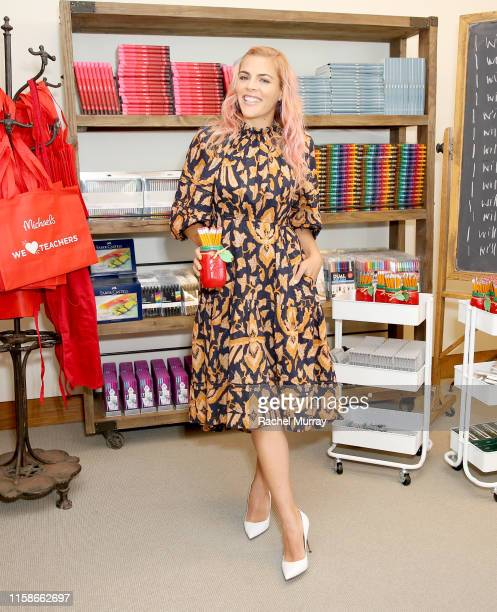 "Busy Philipps and Michaels host a back-to-school ""crafternoon"" on July 30, 2019 in West Hollywood, California."