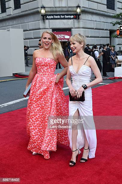 Busy Philipps and Michelle Williams attend the 70th Annual Tony Awards at The Beacon Theatre on June 12 2016 in New York City