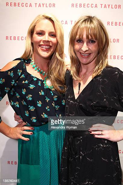 Busy Philipps and Rebecca Taylor at Rebecca Taylor Robertson Store Opening on December 7 2011 in Los Angeles California