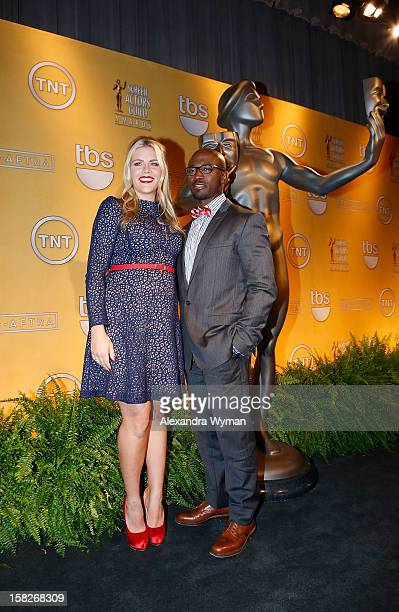 Busy Philipps and Taye Diggs at The 19th Annual Screen Actors Guild Awards Nominations Announcement held at The Pacific Design Center on December 12...