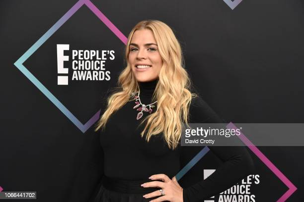 Busy Philipps arrives at E! People's Choice Awards at Barker Hangar on November 11, 2018 in Santa Monica, California.