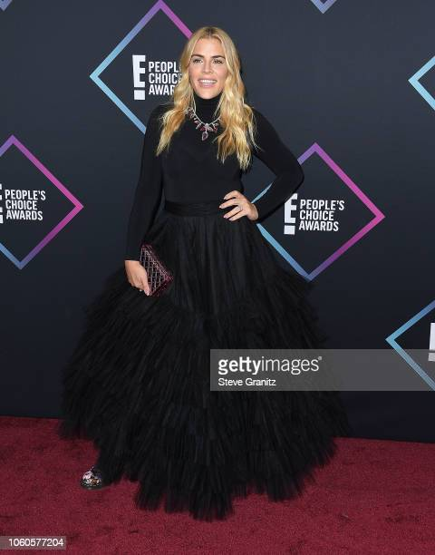Busy Philipps arrives at the People's Choice Awards 2018 at Barker Hangar on November 11 2018 in Santa Monica California