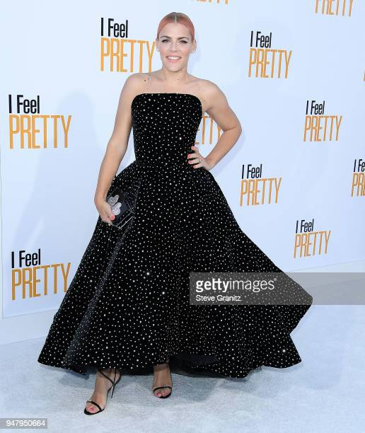 Busy Philipps arrives at the Premiere Of STX Films' 'I Feel Pretty' at Westwood Village Theatre on April 17 2018 in Westwood California