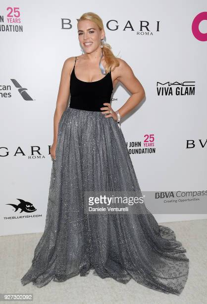 Busy Philipps attends Elton John AIDS Foundation 26th Annual Academy Awards Viewing Party at The City of West Hollywood Park on March 4 2018 in Los...