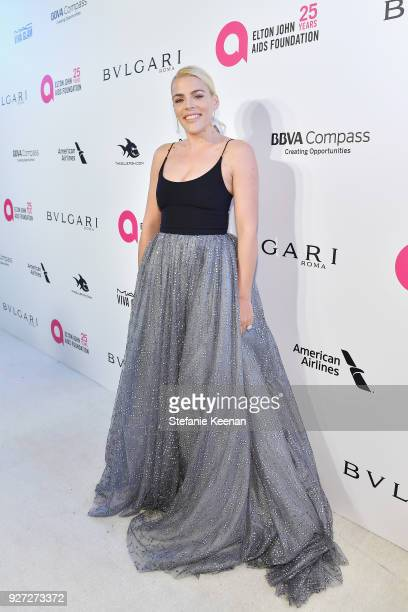 Busy Philipps attends the 26th annual Elton John AIDS Foundation Academy Awards Viewing Party sponsored by Bulgari celebrating EJAF and the 90th...