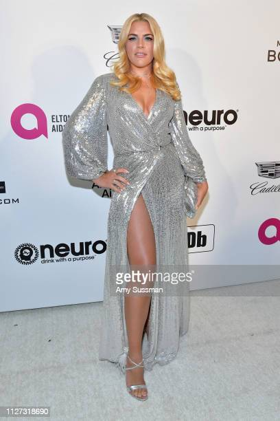 Busy Philipps attends the 27th annual Elton John AIDS Foundation Academy Awards Viewing Party celebrating EJAF and the 91st Academy Awards on...