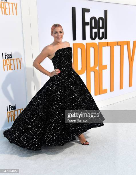 Busy Philipps atttends the Premiere Of STX Films' 'I Feel Pretty' at Westwood Village Theatre on April 17 2018 in Westwood California