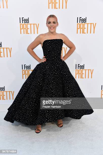 Busy Philipps atttends the Premiere Of STX Films' I Feel Pretty at Westwood Village Theatre on April 17 2018 in Westwood California