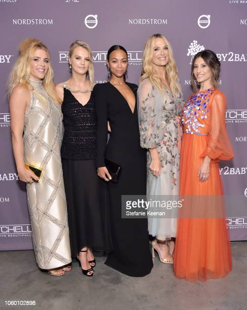 Busy Philipps Baby2Baby CoPresident Kelly Sawyer Patricof Zoe Saldana Molly Sims Baby2Baby CoPresident Norah Weinstein pose at the 2018 Baby2Baby...