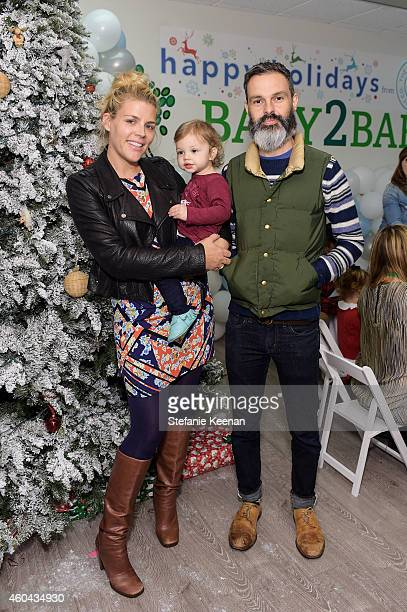 Busy Philipps Birdie Silverstein and Marc Silverstein attend Baby2Baby Holiday Party Presented By The Honest Company on December 13 2014 in Los...