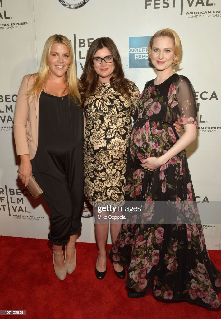 Busy Philipps, director Kat Coiro and Evan Rachel Wood attend the 'A Case Of You' World Premiere during the 2013 Tribeca Film Festival on April 21, 2013 in New York City.