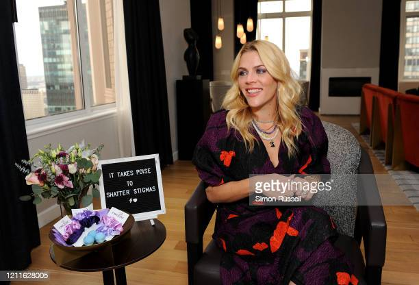 Busy Philipps discusses the importance of shattering stigmas around below-the-belt women's health topics with Poise® brand on March 10, 2020 in New...