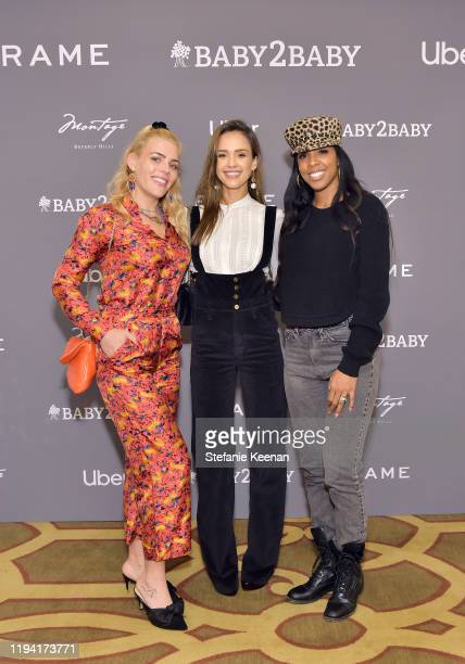 Busy Philipps, Jessica Alba and Kelly Rowland attend The Baby2Baby Holiday Party Presented By FRAME And Uber at Montage Beverly Hills on December 15,...