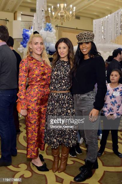 Busy Philipps, Norah Weinstein and Kelly Rowland attend The Baby2Baby Holiday Party Presented By FRAME And Uber at Montage Beverly Hills on December...