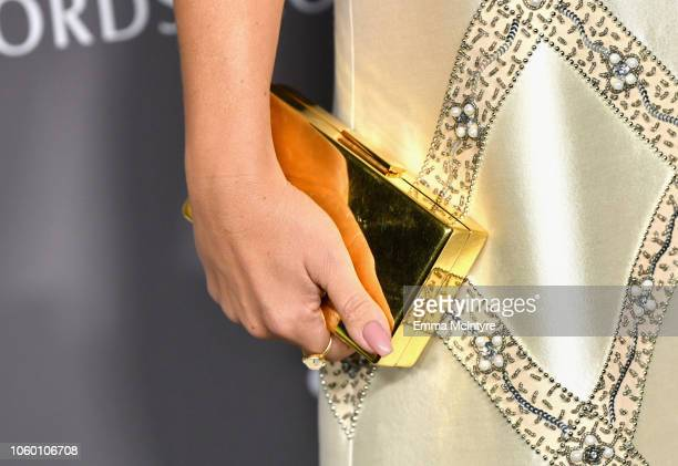Busy Philipps purse detail attends the 2018 Baby2Baby Gala Presented by Paul Mitchell at 3LABS on November 10 2018 in Culver City California