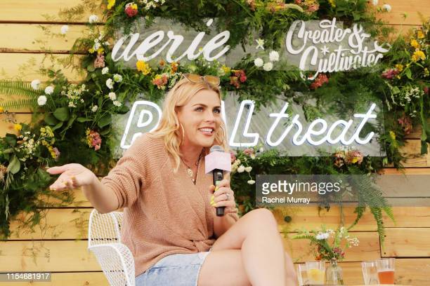 Busy Philipps speaks onstage during Aerie REALTreat in Collaboration with Create & Cultivate on June 08, 2019 in Los Angeles, California.
