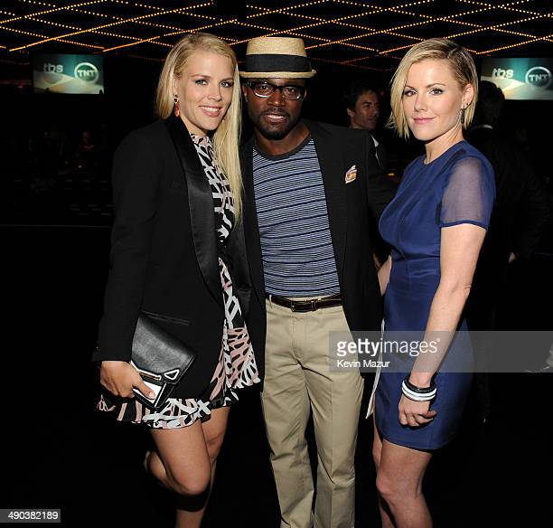 Busy Philipps Taye Diggs and Kathleen Robertson attend the TBS / TNT Upfront 2014 at The Theater at Madison Square Garden on May 14 2014 in New York...