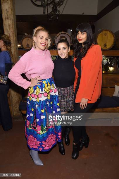 Busy Phillips Aly Raisman and Jameela Jamil attend as Aerie celebrates #AerieREAL Role Models in NYC on January 31 2019 in New York City