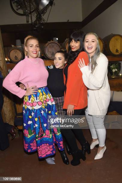 Busy Phillips Aly Raisman Jameela Jamil and Iskra Lawrence attend as Aerie celebrates #AerieREAL Role Models in NYC on January 31 2019 in New York...