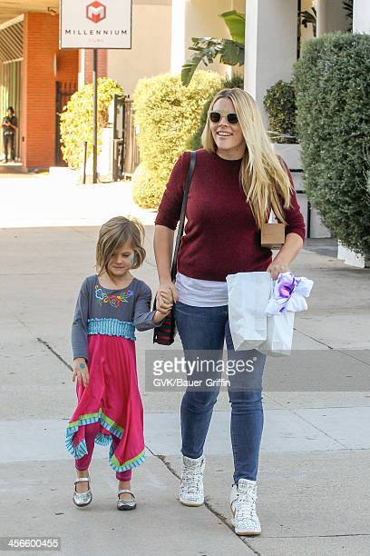 Busy Phillips and her daughter Birdie Leigh Silverstein are seen on December 14 2013 in Los Angeles California