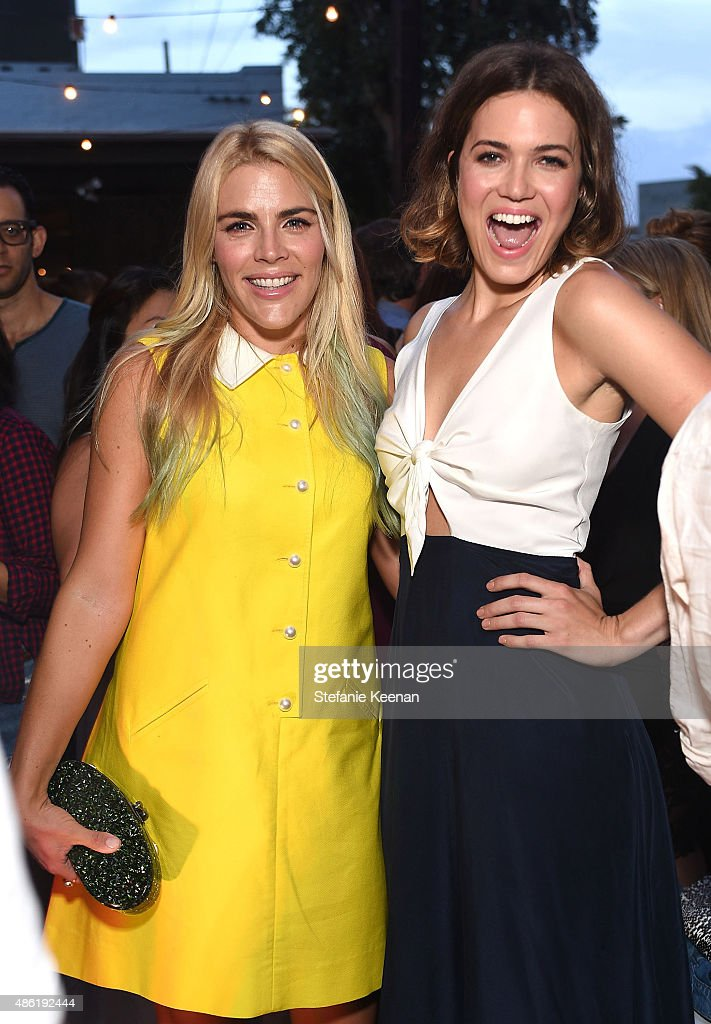 Busy Phillips and Mandy Moore attend The A List 15th Anniversary Party on September 1, 2015 in Beverly Hills, California.