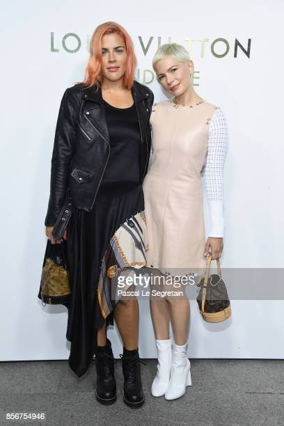 Busy Phillips and Michelle Williams attend the Opening Of The Louis Vuitton Boutique as part of the Paris Fashion Week Womenswear Spring/Summer 2018...