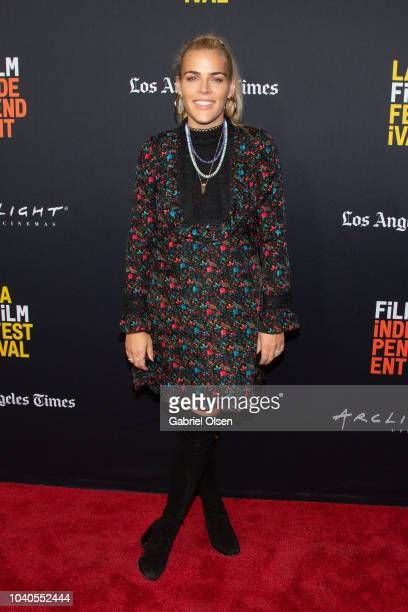 Busy Phillips arrives at the 2018 LA Film Festival Gala Screening of 'The Oath' at ArcLight Hollywood on September 25 2018 in Hollywood California